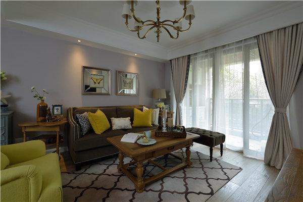 90平现代美式风格家居装修效果图