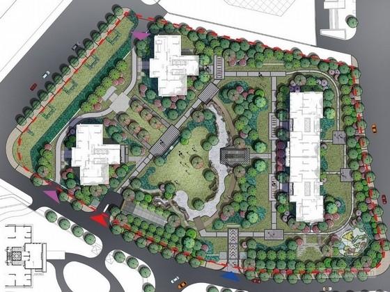 [武汉]典雅住宅小区及售楼处附属绿地景观扩初设计方案(知名设计公司)