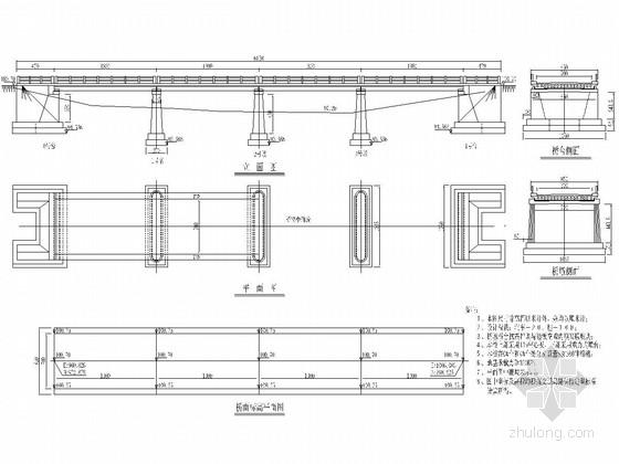 4-13米钢筋混凝土板桥全桥施工图(23张)