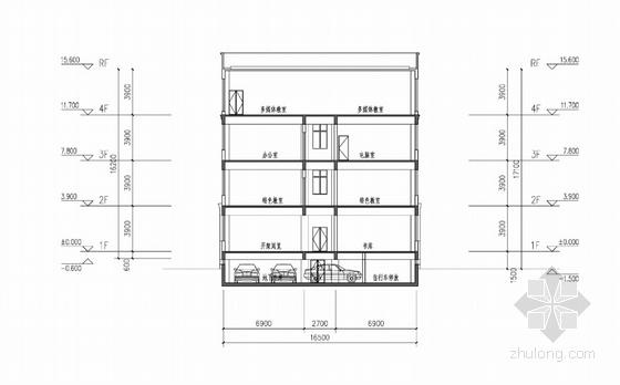 现代风格小学规划设计剖面图