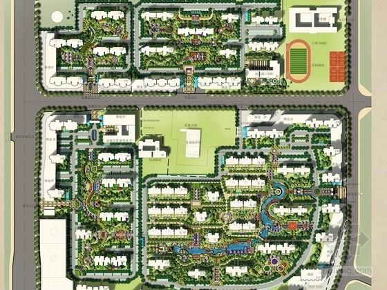[郑州]ART DECO建筑新古典主义风格高档居住区景观概念设计方案