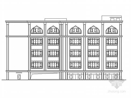 [新疆]5层现代风格立体停车库建筑设计施工图(知名建筑事务所)