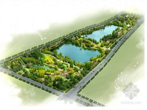 [咸阳]个性蕴含文化的生态型河堤道路综合景观规划设计方案