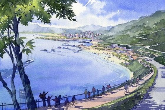 [深圳]大型生态净土绿色岸线滨水城市景观规划设计方案(知名设计所)-景观效果图