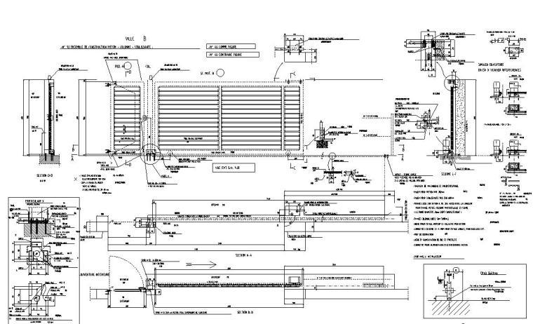 23个金属门立断面节点构造详图——建筑详图
