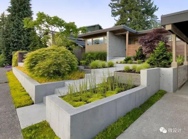 各式各样的庭院景观墙,美_20