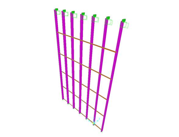 隐框玻璃幕墙系统钢架