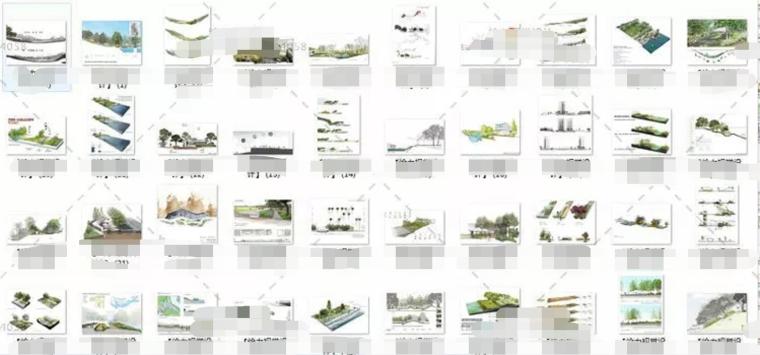 [免费]200张国际范平面图·剖面图·分析图(PSD)