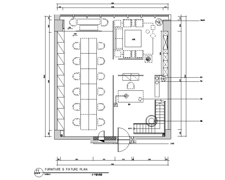 [新疆]300㎡东方极简中式风办公空间设计施工图(附效果图)