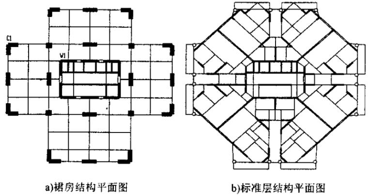 高位转换层高层建筑受力性能的研究