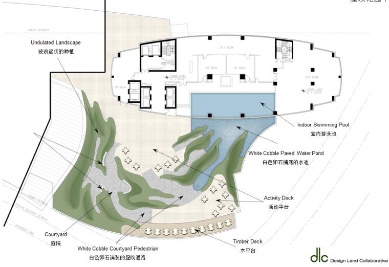 某居住景观设计概念-国外设计所-屋顶花园平面