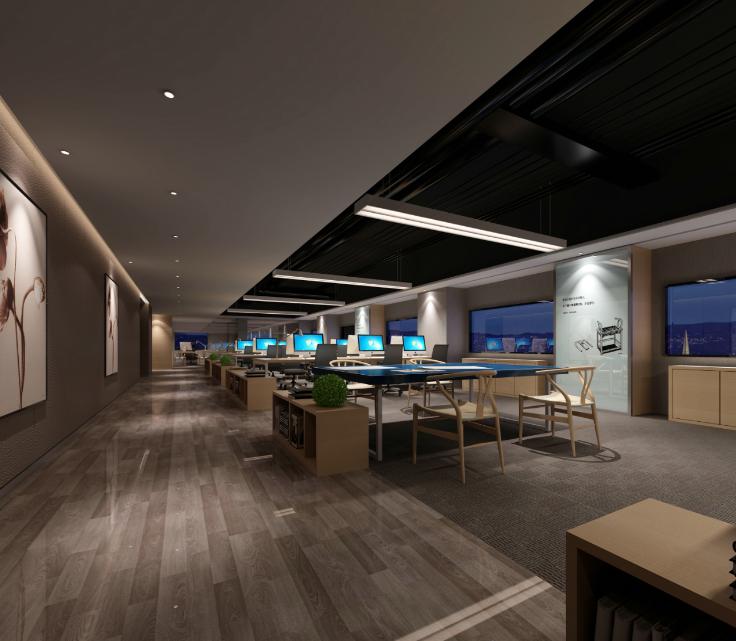 凯隆办公室混搭风格室内设计施工图(含46张图纸)_5