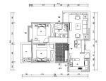 蝴蝶湾美式田园风样板房设计施工图(附效果图)