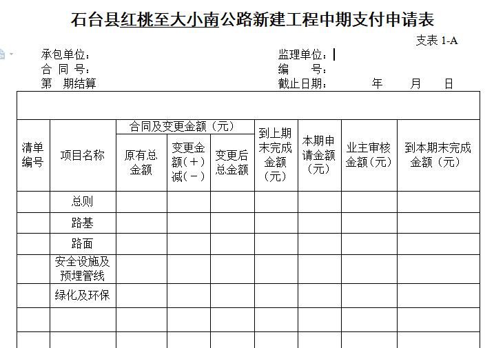 公路新建工程竣工资料工程表格(35页)