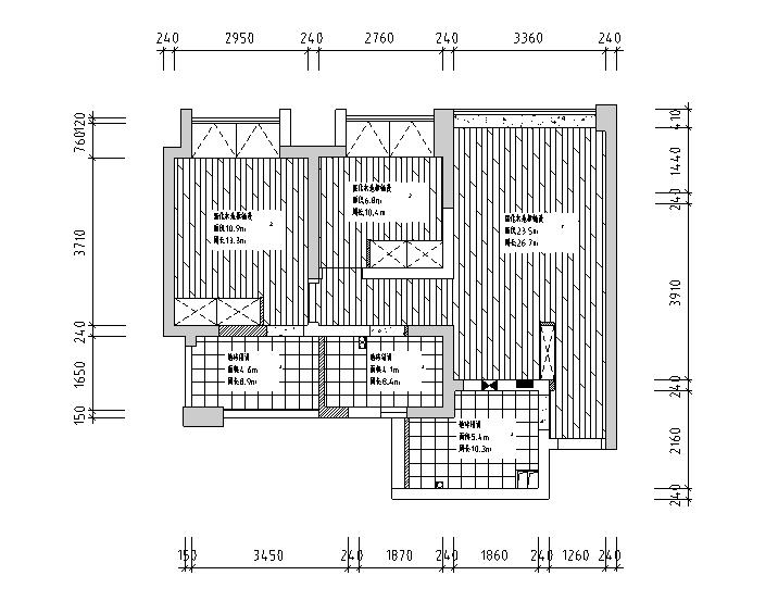 [四川]美式混搭风格二居室样板房设计施工图(附效果图)