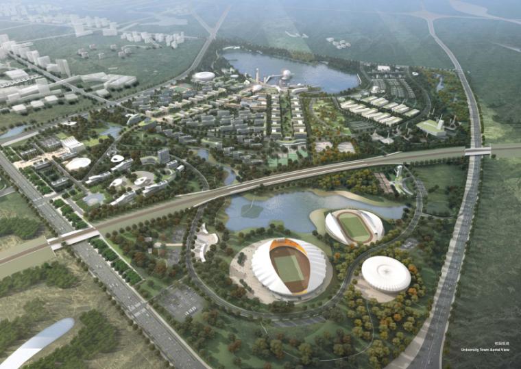 单体建筑酒店设计资料下载-[新疆]市级大学城总体规划及单体建筑设计方案文本