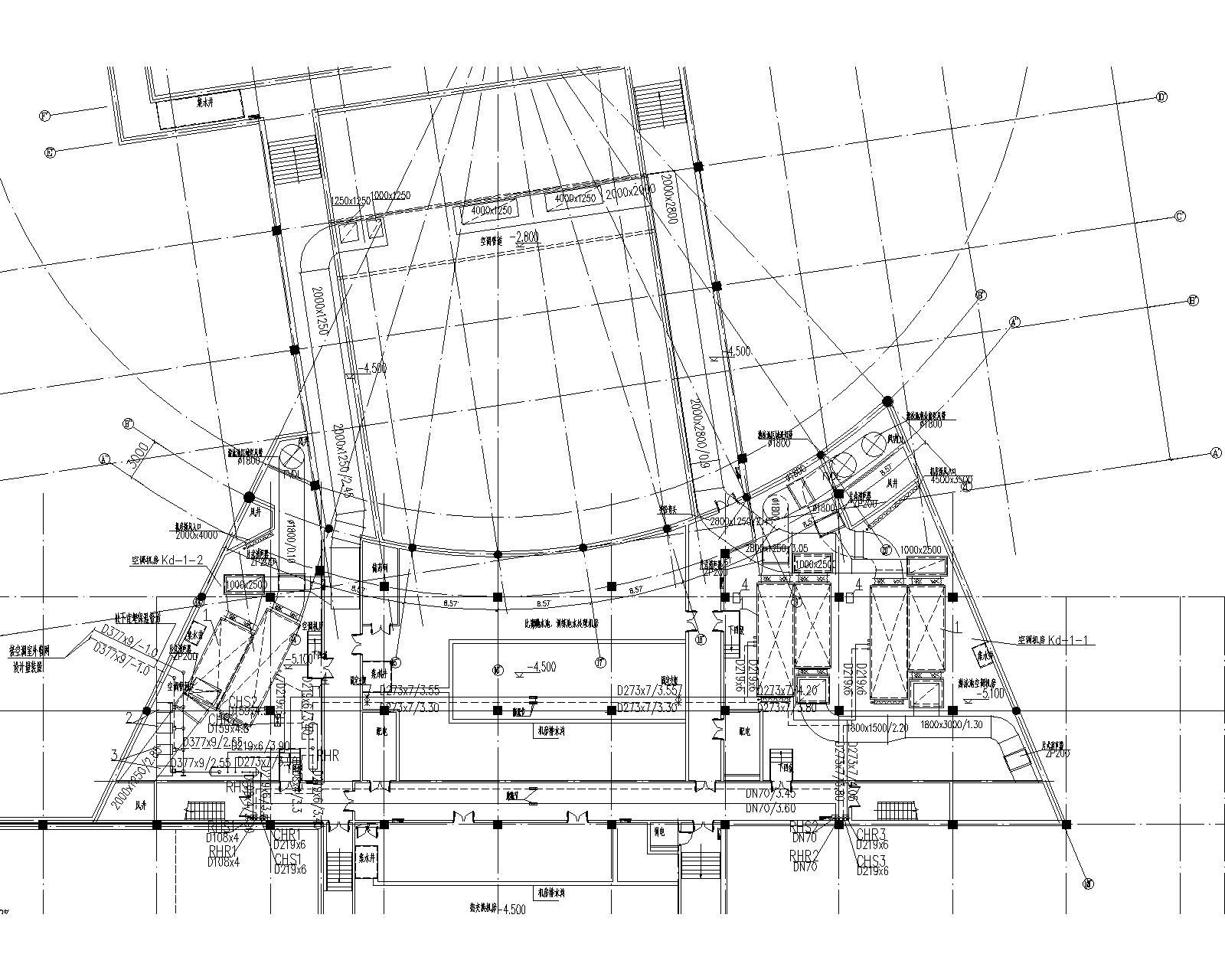 同济-连云港游泳馆暖通设计全套图纸(含冷热源、空调系统、通风系统)_2