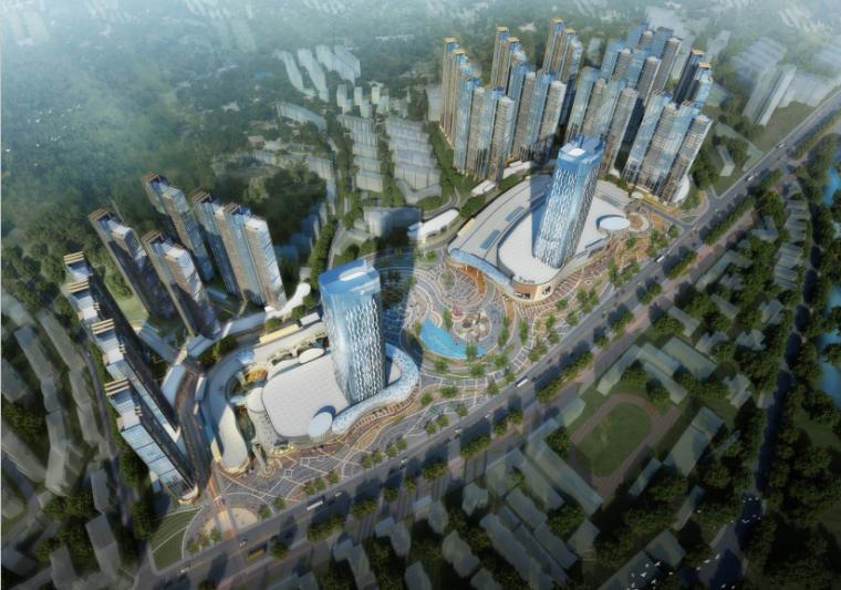 [湖北]超高层娱乐百货商业中心建筑设计方案文本(含CAD)_1