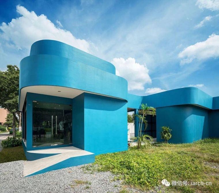 建筑造型打破封闭空间,创造愉悦的运动氛围