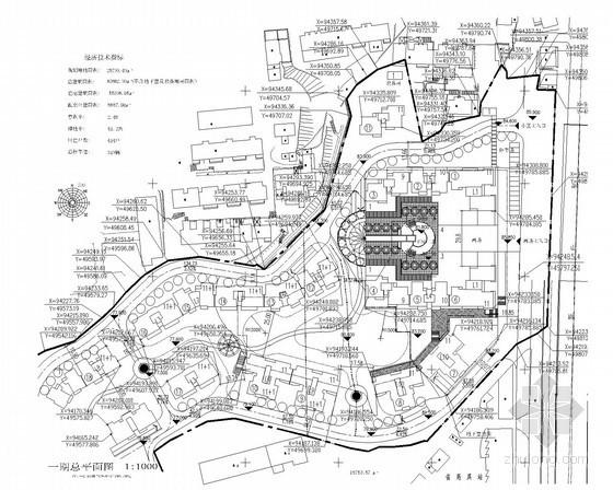 [湖南]某小高层居住区规划总平面图