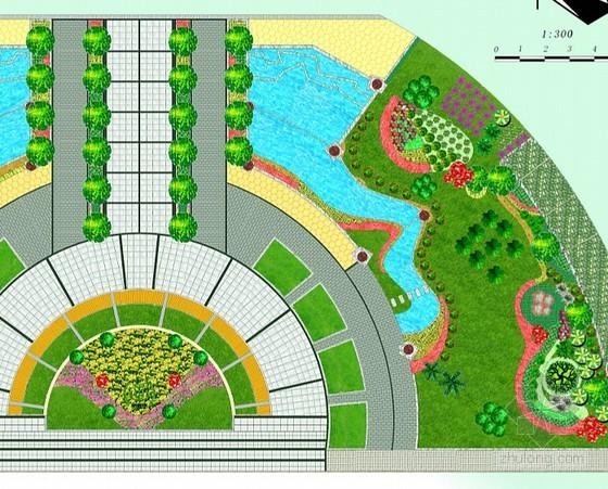 学校入口广场景观设计方案