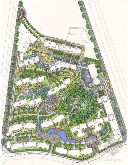 [株洲]花园小区景观概念设计方案
