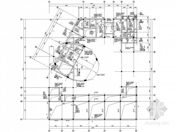三层幼儿园框架结构施工图(带椭圆形造型)