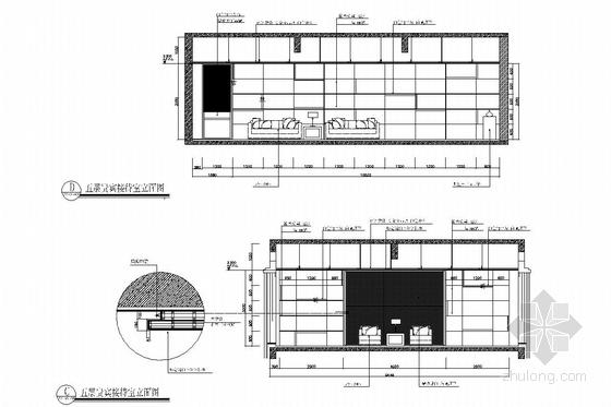 [浙江]皮革之都生产出口时尚皮草公司研发中心施工图 贵宾接待厅立面图
