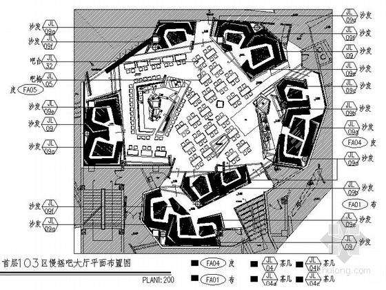 [山西]高档现代酒吧娱乐场所装修图(含效果方案)