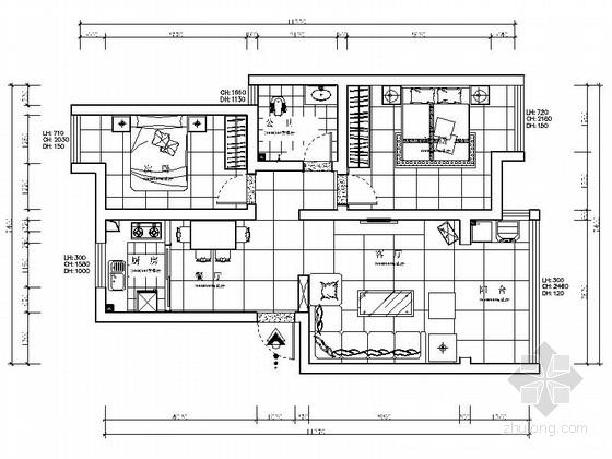[常德]花园洋房现代简约两居室设计装修图(含效果)