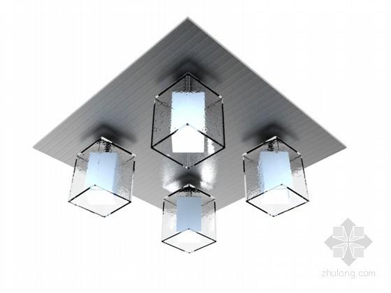 组合吸顶灯3D模型下载