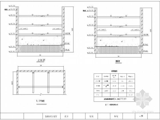 桥墩钢套箱模板图CAD