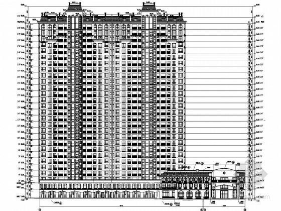 26000平28层剪力墙结构商住楼建筑及结构施工图(底部两层商业)