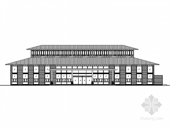[江苏]胶合木结构式旅游服务中心设计施工图(含结构水电,图纸详细推荐下载)
