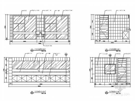 [杭州]社区综合性医疗卫生服务中心室内装修设计施工图(含效果)备餐间立面图