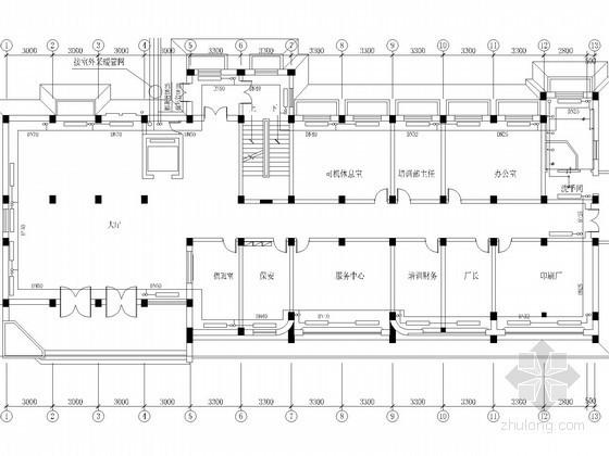 多层行政办公楼采暖系统设计施工图(含给排水设计)