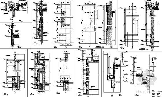 [徐州]某国际花园城售楼建筑结构水电施工图-墙身节点