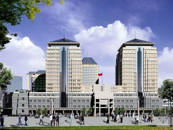 [北京]某广场数据中心公共机房建筑设计施工套图(含效果图及设计说明)