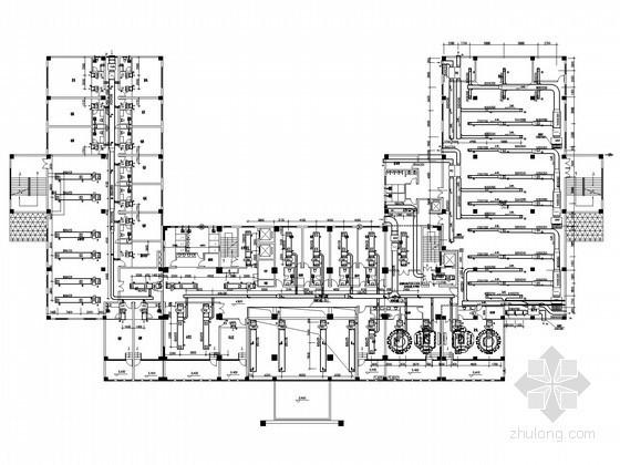 高层宾馆建筑通风空调系统设计施工图(溴化锂直燃制冷系统)