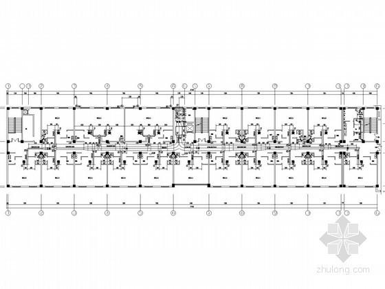 [宁夏]多层商务酒店空调通风排烟系统设计施工图(含防火采暖设计)