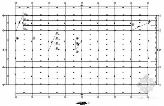 [北京]框架结构医院门诊综合楼结构施工图(三层 顶层门式钢架结构)