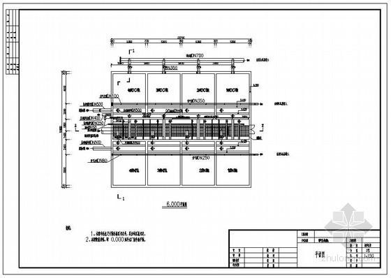 曝气生物滤池原水收集池原水泵房图纸