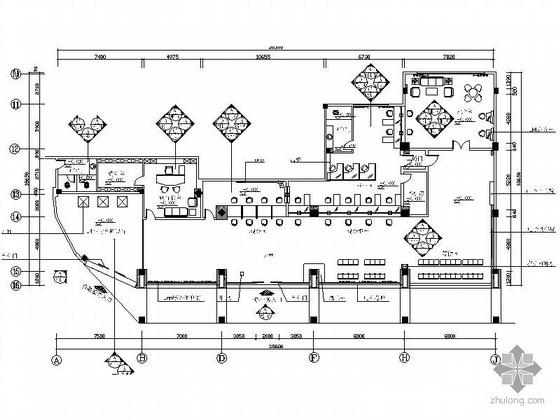 UPS插座布置资料下载-交通银行某支行装修方案图