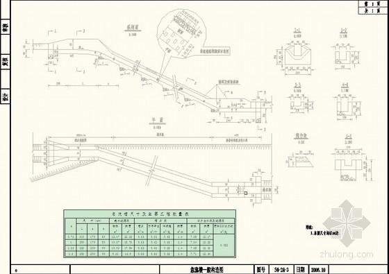 [湖南]公路路基排水沟设计图(急流槽 盲沟 边沟)