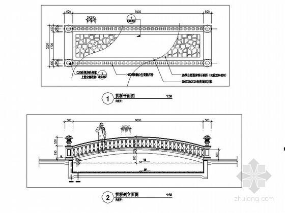 欧式景观桥设计详图资料下载-欧式拱桥施工做法详图