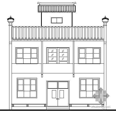 [陕西]某农村小康住宅建筑方案图