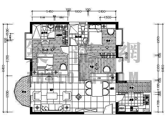 家装设计方案5(两室两厅两卫)