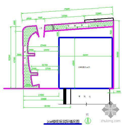 青岛某高层住宅楼施工组织设计(剪力墙结构 平面布置图)