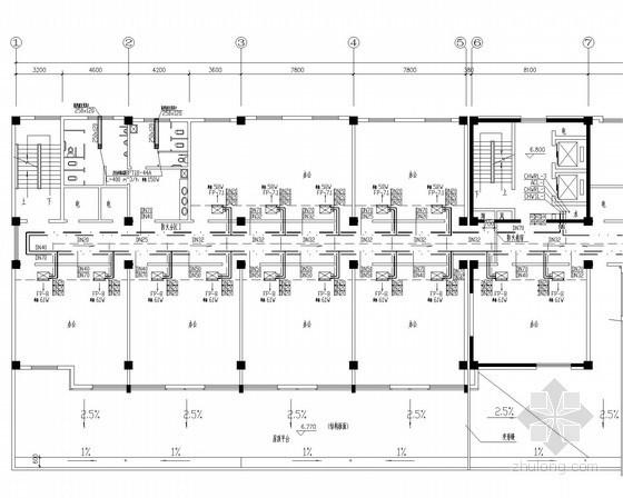 小高层办公综合楼通风空调排烟系统设计施工图(热泵机组 风管配电)
