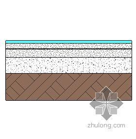 混凝土地面-现制水磨石面层(有防水层) 122mm